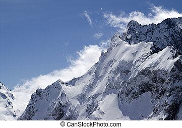 Mountain Dombai-Ulgen - Caucasus Mountains. Mountain...