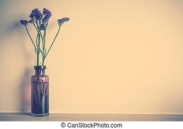 Vase flower decoration in room - Vintage Filter