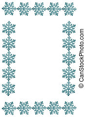 Colorful beautiful snowflakes isolated on white background. Frame.