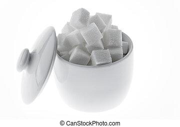 Muchos, pedazos, azúcar, dulce