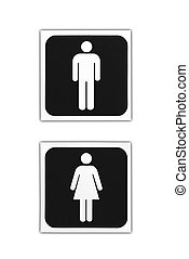 Toilet Sign isolated on the white background