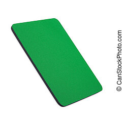 green mouse pad on the white background
