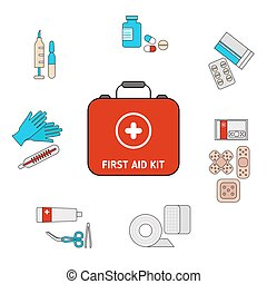 First aid kit concept
