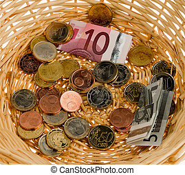 Donate basket for collection. Donation of ?
