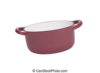 Dark red pan isolated