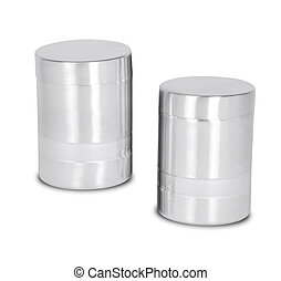 Isolated of Aluminum metal can on white background