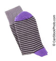 Striped purple sock
