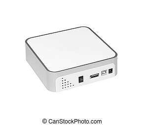 Universal card reader, isolated on a white background