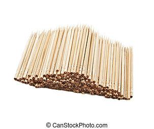toothpicks isolated