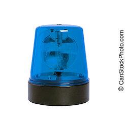 blue rotating beacon
