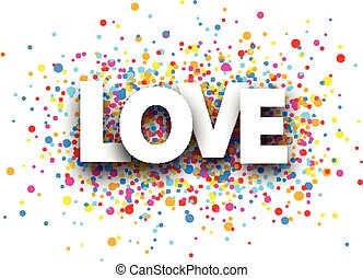 Love paper background - Love paper background with color...