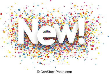 New paper card. - New paper card with color drops. Vector...