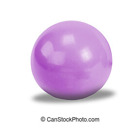 Violet gym ball for exercise