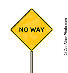 no way - sign