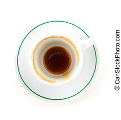 empty cup of coffe