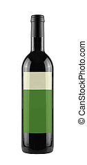 wine bottle isolated on a white background