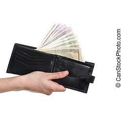dollars sticking out of wallet