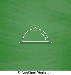 cloche computer symbol - cloche Outline vector icon...
