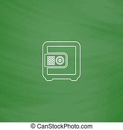 strongbox computer symbol - strongbox Outline vector icon....