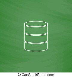 Database computer symbol - Database Outline vector icon....