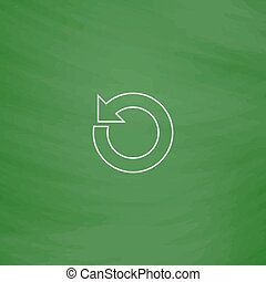 reset computer symbol - reset Outline vector icon. Imitation...