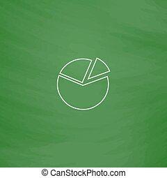 Diagram computer symbol - Diagram Outline vector icon...