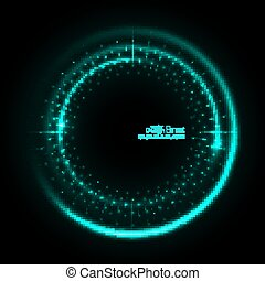 Abstract techno background - Abstract techno background with...