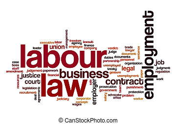 Labour law word cloud concept - Labour law word cloud