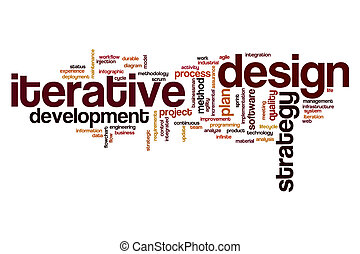 Iterative design word cloud concept - Iterative design word...
