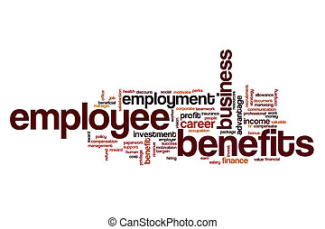 Employee benefits word cloud concept - Employee benefits...