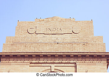 India Gate and sky - Beautiful silhouette of India Gate and...