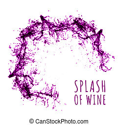 Red wine splash illustration on white background