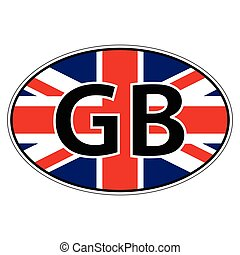 Sticker on car, flag United Kingdom of Great Britain and Northern Ireland