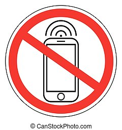 Sign ban prohibits mobile phone