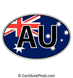 Sticker on car, flag Commonwealth Australia with the...
