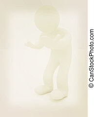 3d man isolated on white. Series: human emotions -...