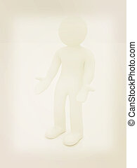 3d man isolated on white Series: human emotions -...