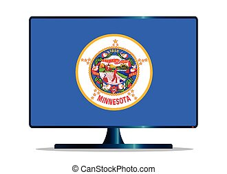 Minnesota Flag TV - A TV or computer screen with the...