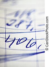 Handwritten invoice accounting document - A handwritten...