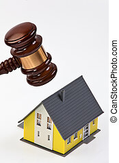 Symbol of property crisis in houses