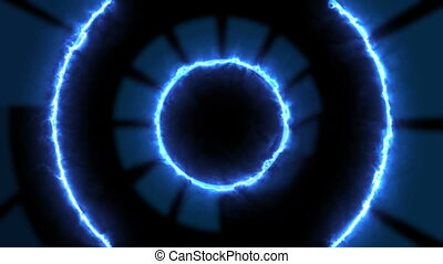 Portal of energy tunnel in space