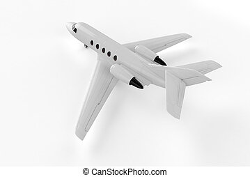 Small Private Airliner - Mockup 3D illustration