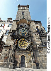 Prague Astronomical Clock on Old Town Hall - Astronomical...