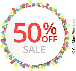50% sale discount sign