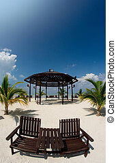 beautiful gazebo - resting chair at resort gazebo