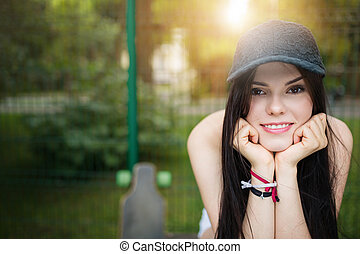 Pretty young woman - A photo of young, beautiful woman in...