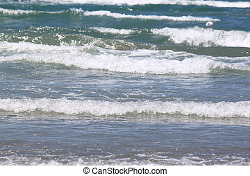 Sea wave close-up, beautiful seascape with fresh cold clear...