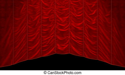 Curtain up or down, Alpha - Curtain up, with beautiful cloth...