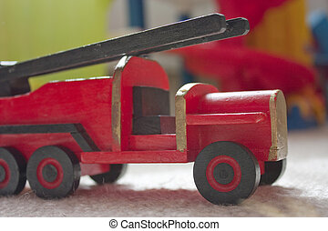 handmade toy fire engine