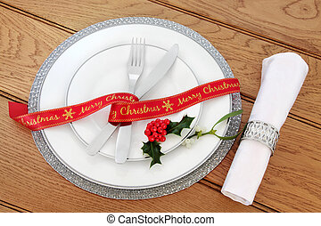 Simple Christmas Place Setting - Simple christmas dinner...